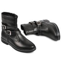 Ботинок 2 П черная кожа