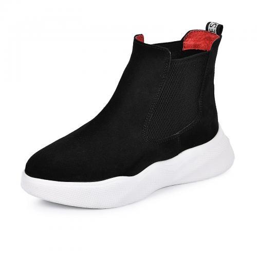 Ботинок Челси-1 черный замш
