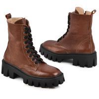 Ботинок Донна коричневая кожа