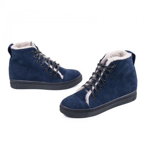 Ботинок 7 синий замш
