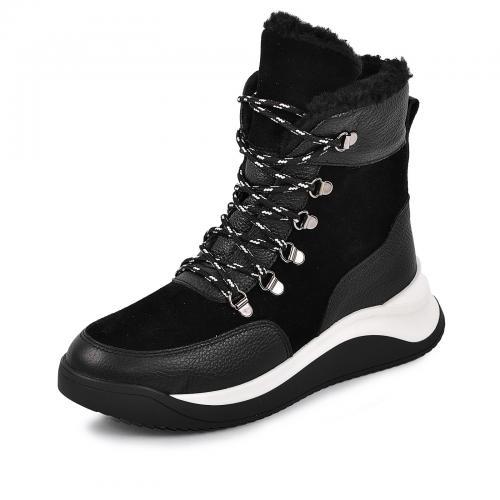 Ботинок Хами черная кожа