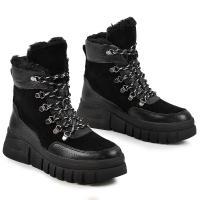 Ботинок Хлоя черный флотар замш