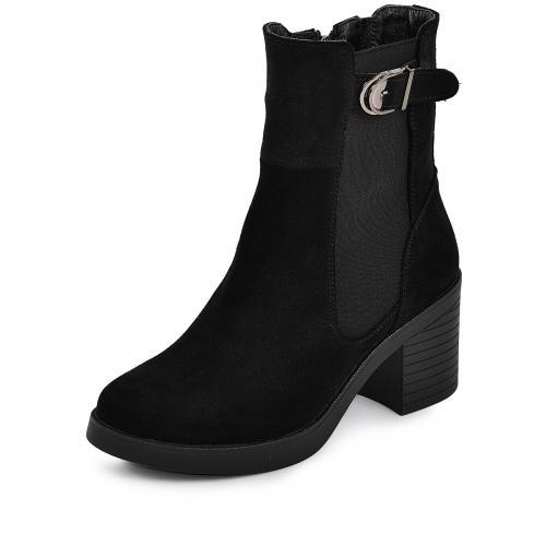 Ботинок Кетрин черный замш