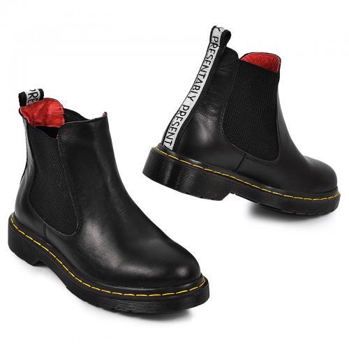 Ботинок Лори черная кожа