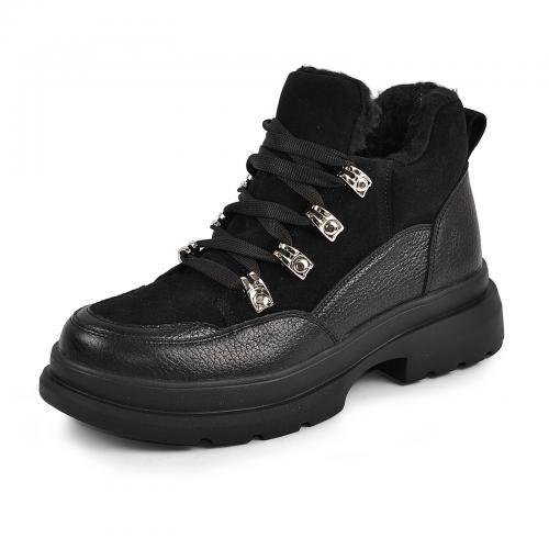 Ботинок Марта черный флотар черный замш