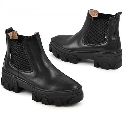 Ботинок Мия черная кожа дети