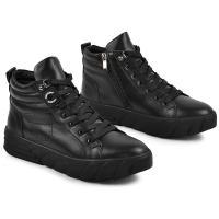 Ботинок Мидина черная кожа
