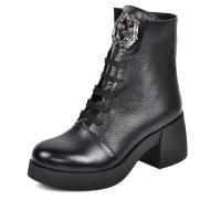 Ботинок 303 черная кожа флотар