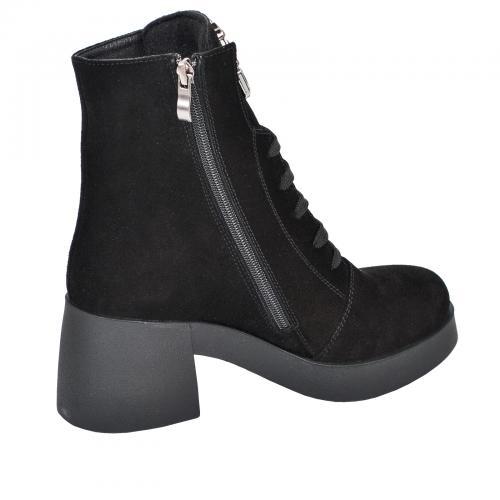 Ботинок 303 черный замш