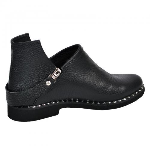 Ботинок 311 черная кожа флотар