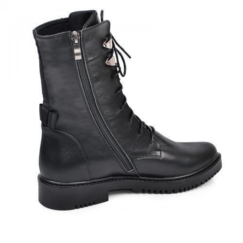Ботинок 325 черная кожа