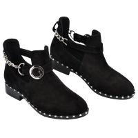 Ботинок 329 черный замш