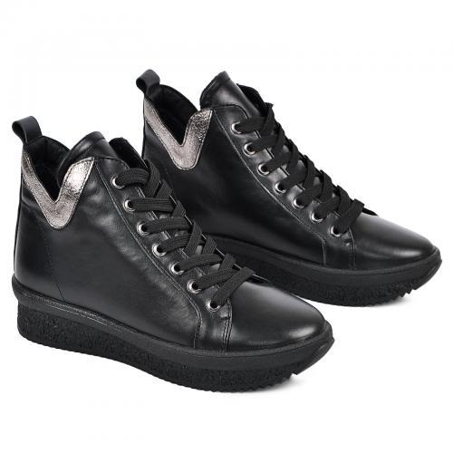Ботинок 330 черная кожа