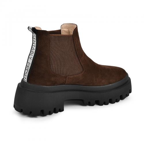 Ботинок Санта коричневый замш