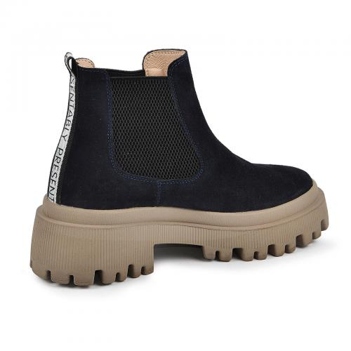 Ботинок Санта синий замш