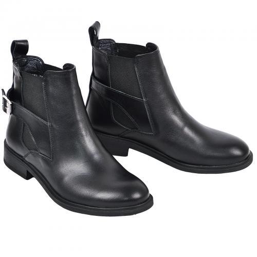 Ботинок Спринг черная кожа