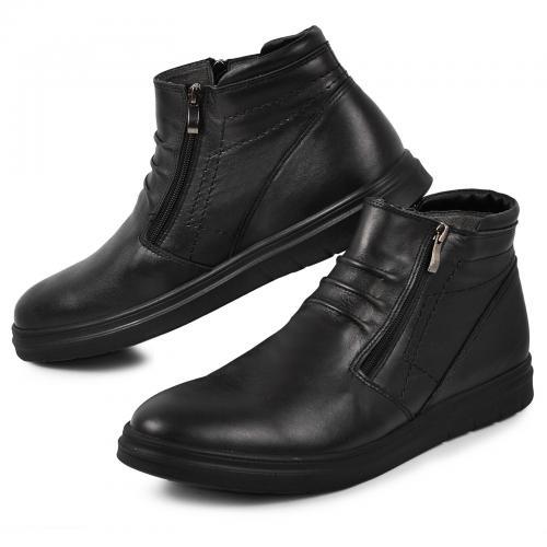 Ботинок 102 черная кожа