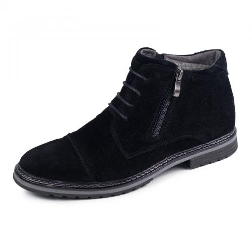 Ботинки 106 черный замш