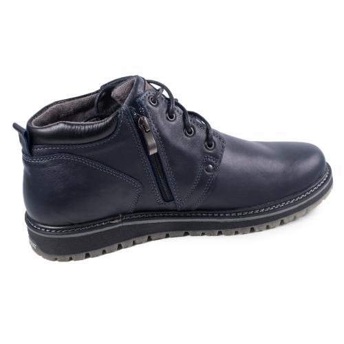 Ботинки 82 синяя кожа
