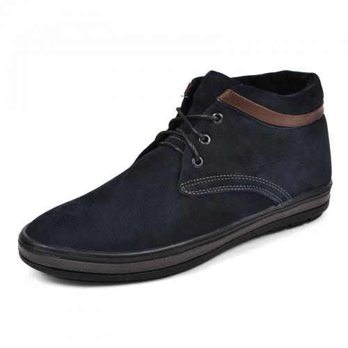 Ботинки Фози синий нубук кор