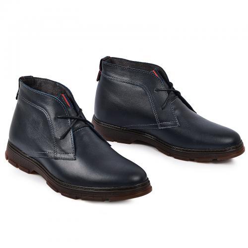 Ботинки НФ синяя кожа