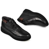 Ботинки Левис черная кожа