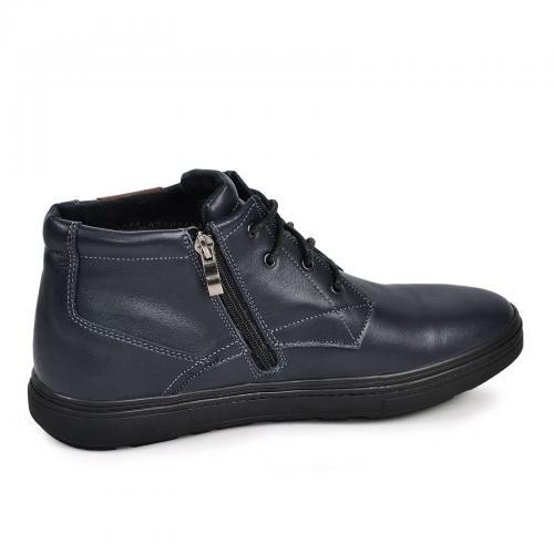 Ботинки Левис синяя кожа