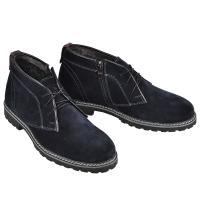 Ботинки Роки синий замш