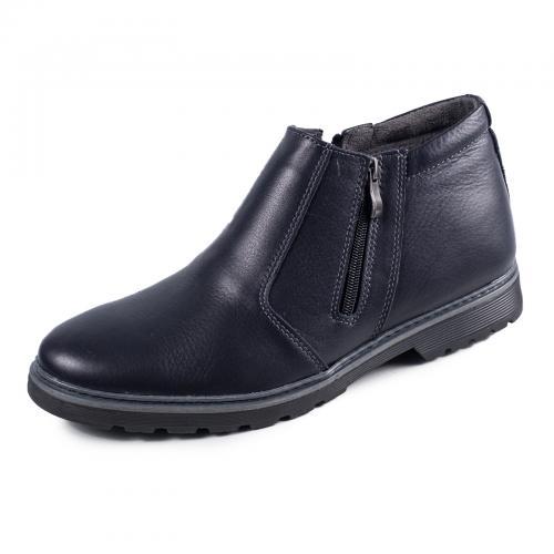 Ботинки Софт синяя кожа