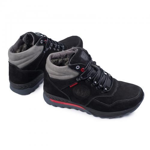 Ботинки Винтер черный нубук