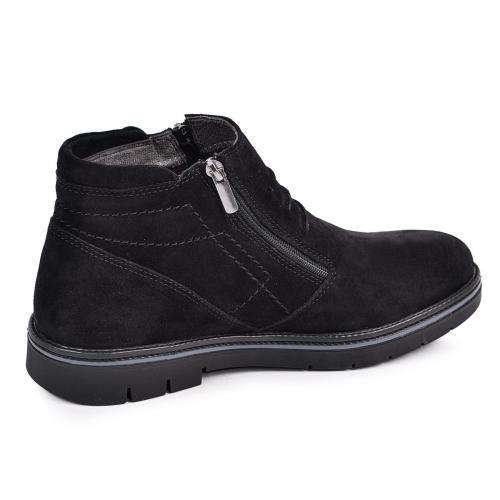 Ботинки 102 черный замш
