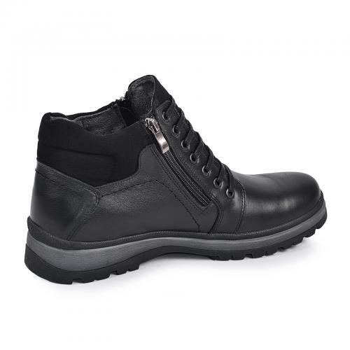Ботинки Блэк черная кожа