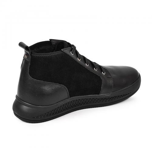Ботинки ДЖР черная кожа замш