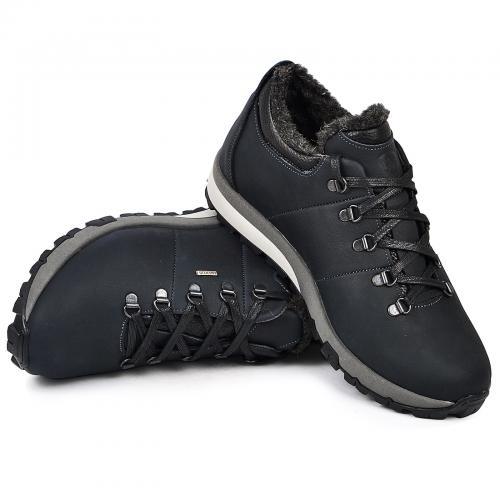 Ботинки Докер синий нубук