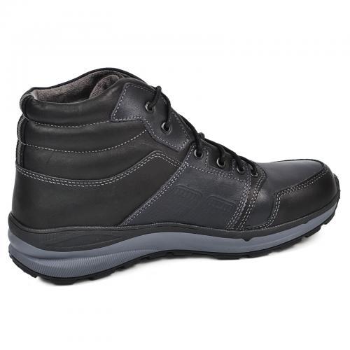 Ботинки Энерджи  синяя-черная кожа