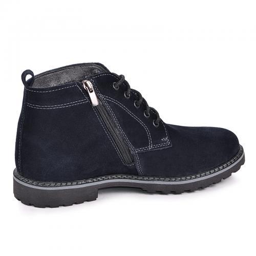 Ботинки Фешон синий замш