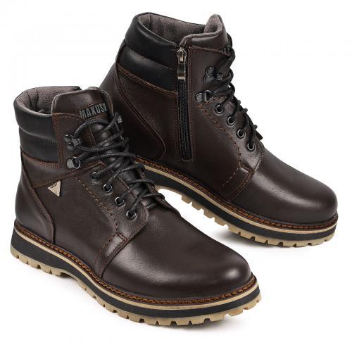 Ботинки Кет 3 коричневая кожа