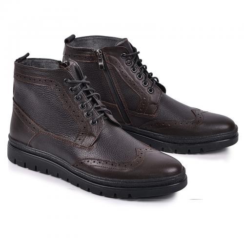 Ботинки Оксфорд коричневая кожа