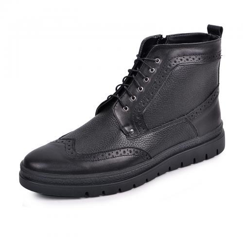 Ботинки Оксфорд черная кожа