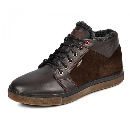 Ботинки Регби коричневые кожа замш