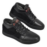 Ботинки Регби черная кожа замш