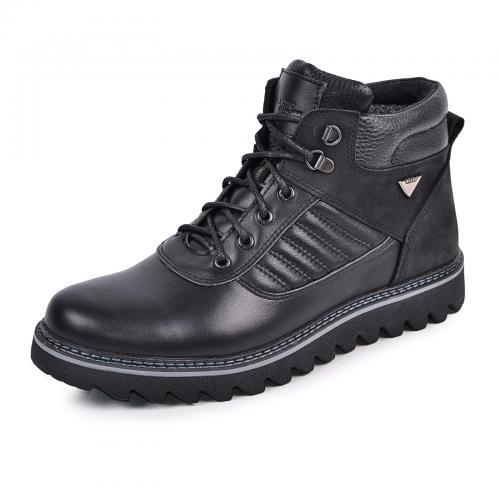 Ботинки Рибс черная кожа