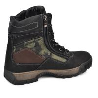 Ботинки Скипер черный мат милитари