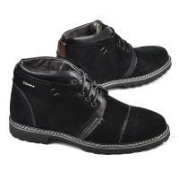 Ботинки Соло черный замш