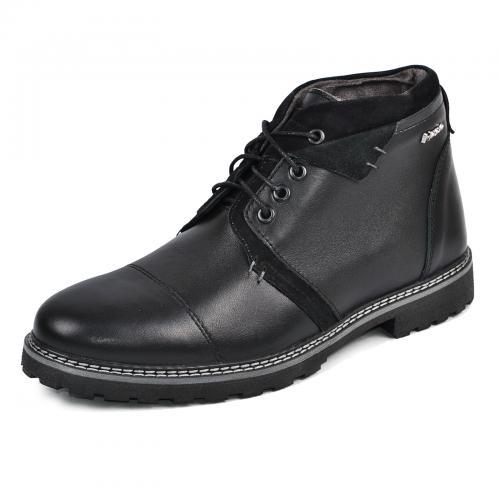 Ботинки Соло черная кожа