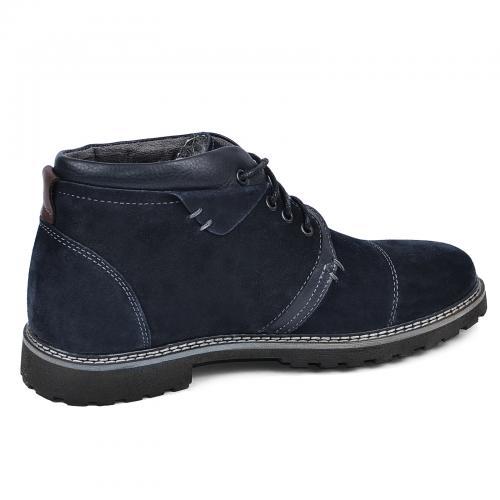 Ботинки Соло синий замш