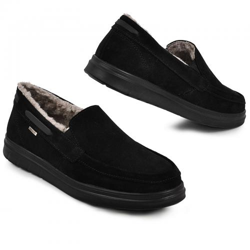 Ботинки ДМ черный замш