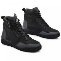 Ботинки Игл серый/черная кожа флотар