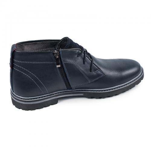 Ботинки Роки каб синяя кожа