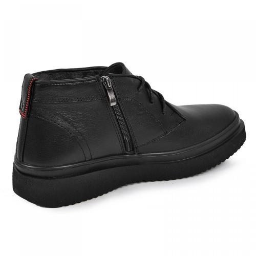 Ботинки Роки черная кожа